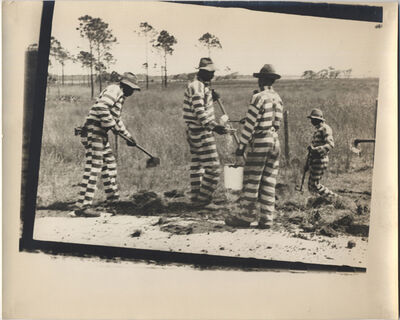 Walker Evans, 'Untitled (Four members of a Prison Work Gang, Possibly Louisiana)', 1935