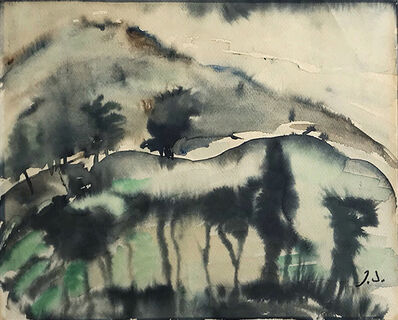 Elene Akhvlediani, 'Twilight in Mountains', 1962