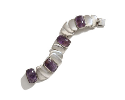 Hector Aguilar, 'A Hector Aguilar sterling silver and amethyst bracelet', 1943-1948