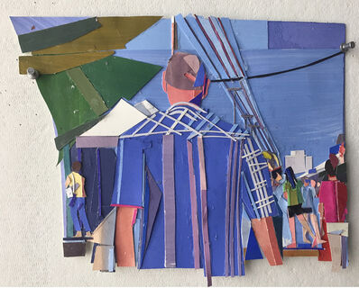 Mark Lewis (b.1959), 'Market (Striped Shirt)', 2018