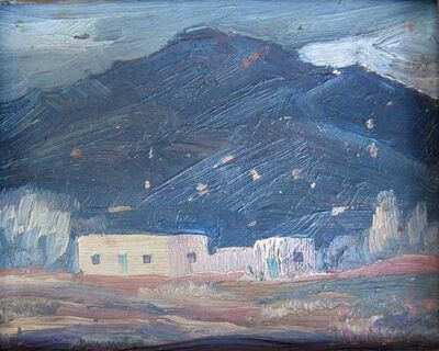 Ila McAfee, 'NM Landscape with Adobes', ca 1930's