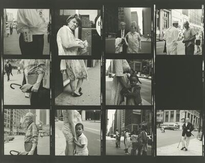 Vivian Maier, 'VM19XXW03095 - Untitled, n.d. (Contact Sheet), Man with Cane', Printed 2017