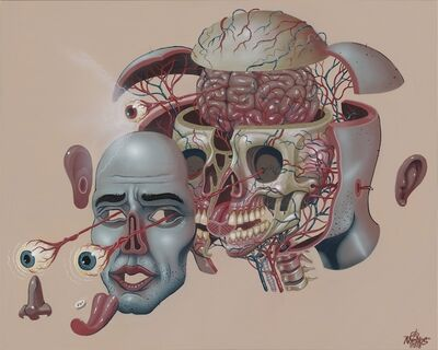 NYCHOS, 'Dissection of a Head', 2018