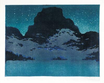 Karl Pferschy, 'Winter Night in the Mountains '