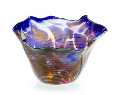 Dale Chihuly, 'Ultramarine Macchia with turquoise lip wrap', 1989