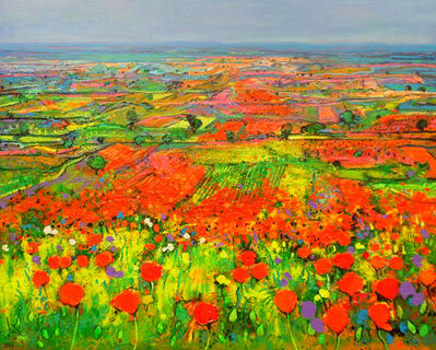 Ulpiano Carrasco, 'Slope of Poppies', 2019