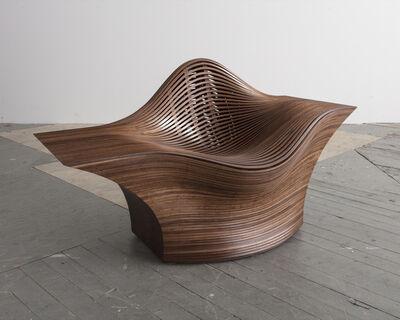 """Bae Se Hwa, '""""Steam 25"""" lounge chair in steam-bent walnut', 2015"""