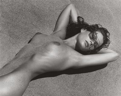 Herb Ritts, 'Carre in Sand 2, Paradise Cove', 1988