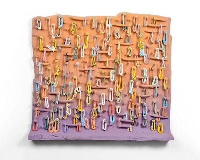 Lauren Mabry, 'Loopy Peg Painting (Orange & Purple)', 2019