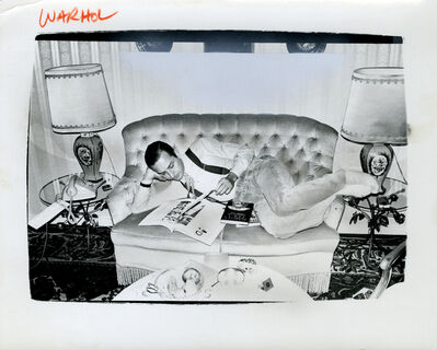 Andy Warhol, 'Andy Warhol, Photograph of Fred Hughes on Sofa, 1986', 1986