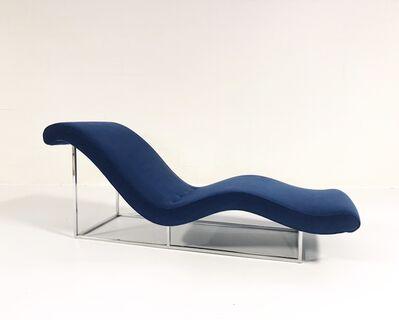 Milo Baughman, 'Chaise Lounge Restored in Loro Piana Velvet', ca. 1970