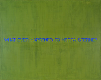 David Diao, 'What Ever Happened to Hedda Sterne?', 1993