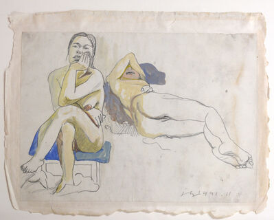 Liu Xiaodong, 'Study of Two Nudes', 1993