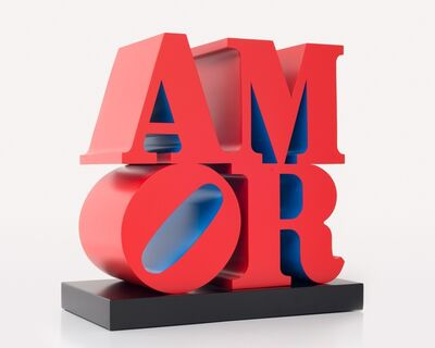 Robert Indiana, 'AMOR, Red Blue', 1998