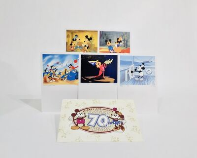 Walt Disney Productions, 'Disney 70th Anniversary Postcard Set feauturing Mickey and his friends', unknown