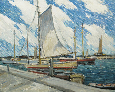 Walter Farndon, 'Backward Sail, Fire Island, New York', 19th -20th Century