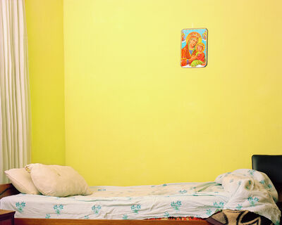 Awol Erizku, 'Empty Bed with The Virgin Mary', 2013