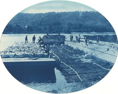 Henry Peter Bosse, 'Construction of Rock and Brush Dam, L.W. 1891', 1891