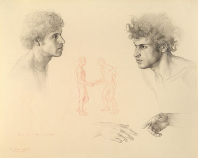 Claudio Bravo, 'Two Heads and Hands (Study for Luzbel and Lucifer)', 1983