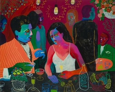 John Holcomb, 'Champagne and Conversation', 2018