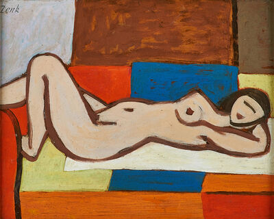 Josef Zenk, 'Woman on a Couch'