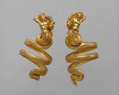 Unknown Greek, 'Pair of gold armbands', ca. 200 B.C.