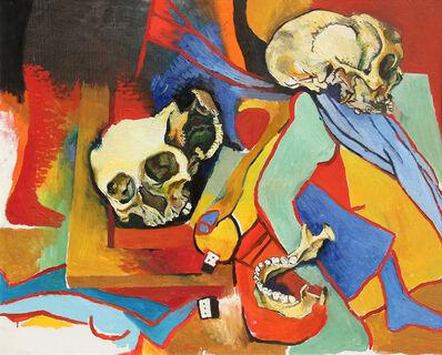 Renato Guttuso, 'Teschio con omaggi a Picasso e alla sua crocifissione', 1973