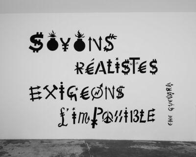 Jacques Villeglé, '« Soyons réalistes exigeons l'impossible » - Che Guevara ', ca. 2020-2021