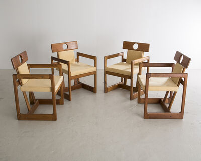 "Sergio Rodrigues, 'Set of Four ""Cuiabá"" Dining Chairs', 1985"