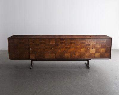 Giuseppe Scapinelli, 'Five-door credenza with patchwork wood front in jacaranda', ca. 1950