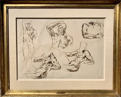 Eugène Delacroix, 'Étude de nus masculins (Study of male nudes)', n.d. (possibly circa 1845)