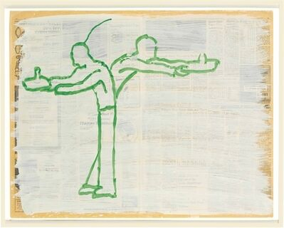 Paul Thek, 'Untitled (Two Figures)'