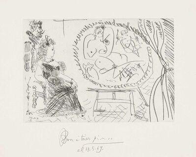 Pablo Picasso, 'Plate 9, from: El Entierro del Conde de Orgaz', 1966