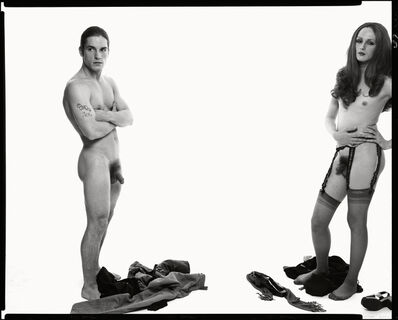 Richard Avedon, 'Andy Warhol and members of The Factory (#2), left to right: Joe Dallesandro, actor and Candy Darling, actor, New York, October 30, 1969', 1969