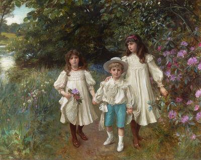 George Harcourt, 'Muriel, Cynthia and George ', 1900