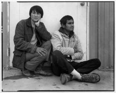 Danny Lyon, 'Jicarilla Apache medicine man and his sister, Dulce NM', 1973