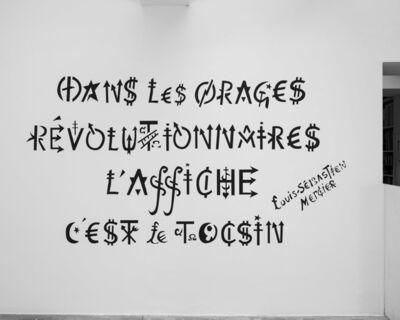 Jacques Villeglé, '« Dans les orages révolutionnaires l'affiche c'est le tocsin » - Louis-Sébastien Mercier', ca. 2020-2021