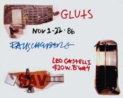 Robert Rauschenberg, 'Gluts, 1986 Leo Castelli Gallery Exhibition Poster', 1986