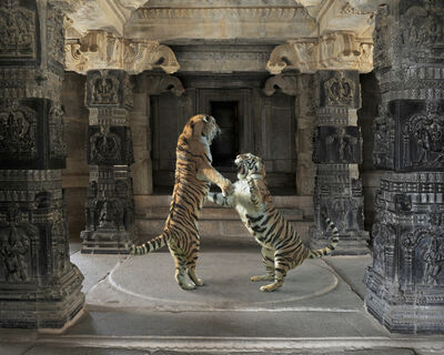 "Karen Knorr, 'The Palaiyakkarars, Hazarama Temple, Hampi. From the series ""India Song""'"
