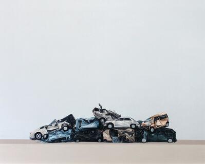 Moisés Jácome, 'Composición con autos', 2017