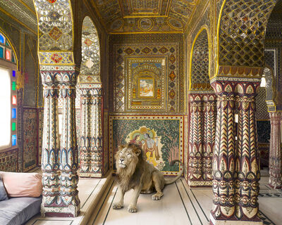 Karen Knorr, 'Parvati's Vahana, Samode Haveli, Jaipur'