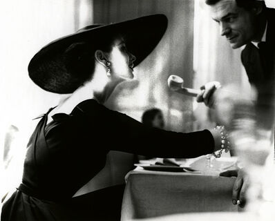 "Lillian Bassman, '""The V-Back Evenings"", Dress by Trigere, Suzy Parker, New York, Harper's Bazaar, July 1955', 1955"