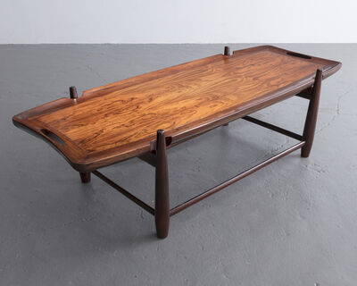 Sergio Rodrigues, 'Arimello coffee table with handles in jacaranda and a solid jacaranda frame. Designed by Sergio Rodrigues, Brazil, 1958.', 1958