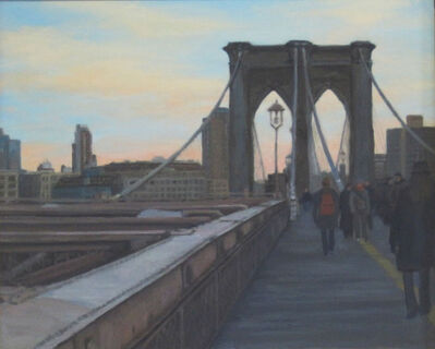 Ella Yang, 'Sunset Walk Across Brooklyn Bridge', 2016