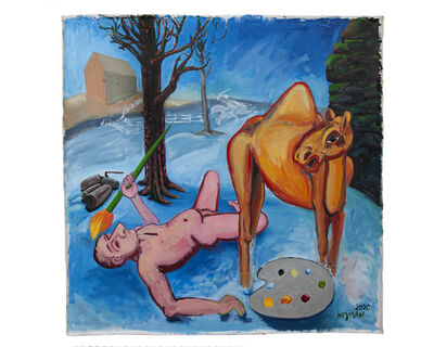 Daniel Heyman, 'Artist Falls Off His Camel', 2020