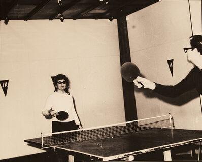 Július Koller, 'JK - Ping-Pong Club 1 (U.F.O.), Actions Environment', 1970