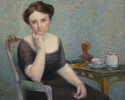 Hippolyte Petitjean, 'Jeune femme prenant le thé', NA