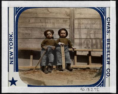 "Jacob A. Riis, 'The Mott Street Boys, ""Keep off the Grass""', ca. 1890"