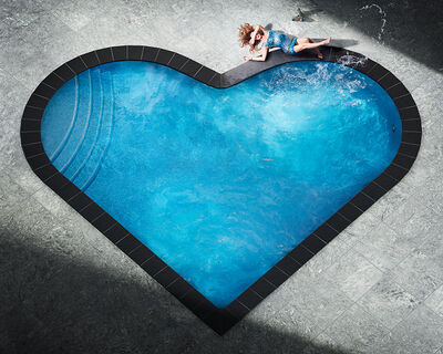 David Drebin, 'Splashing Heart', 2018