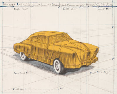 Christo and Jeanne-Claude, 'Wrapped Automobile - Project for 1960 Studebaker Champion 9 G Coupe', 2015